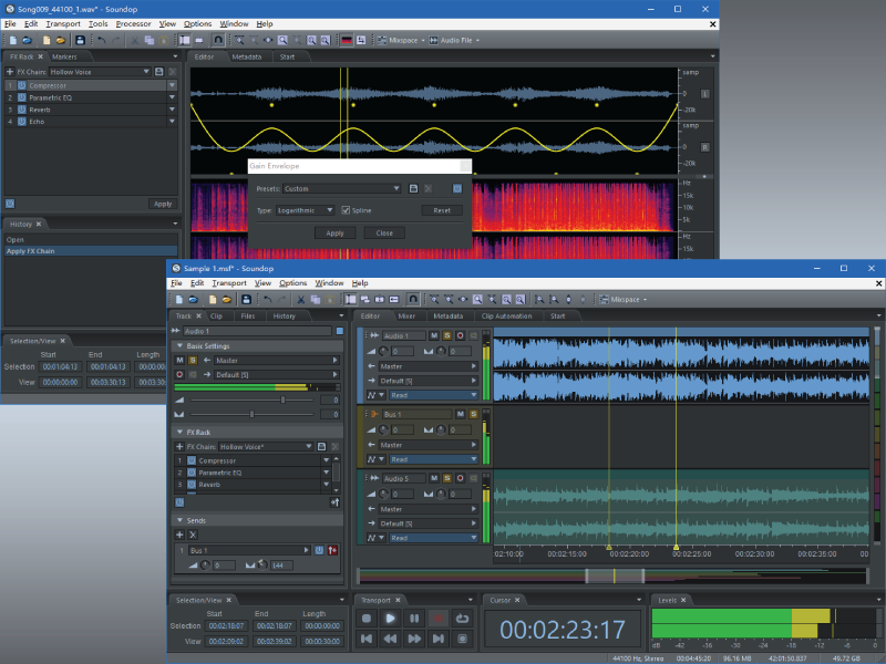 Soundop Audio Editor full screenshot